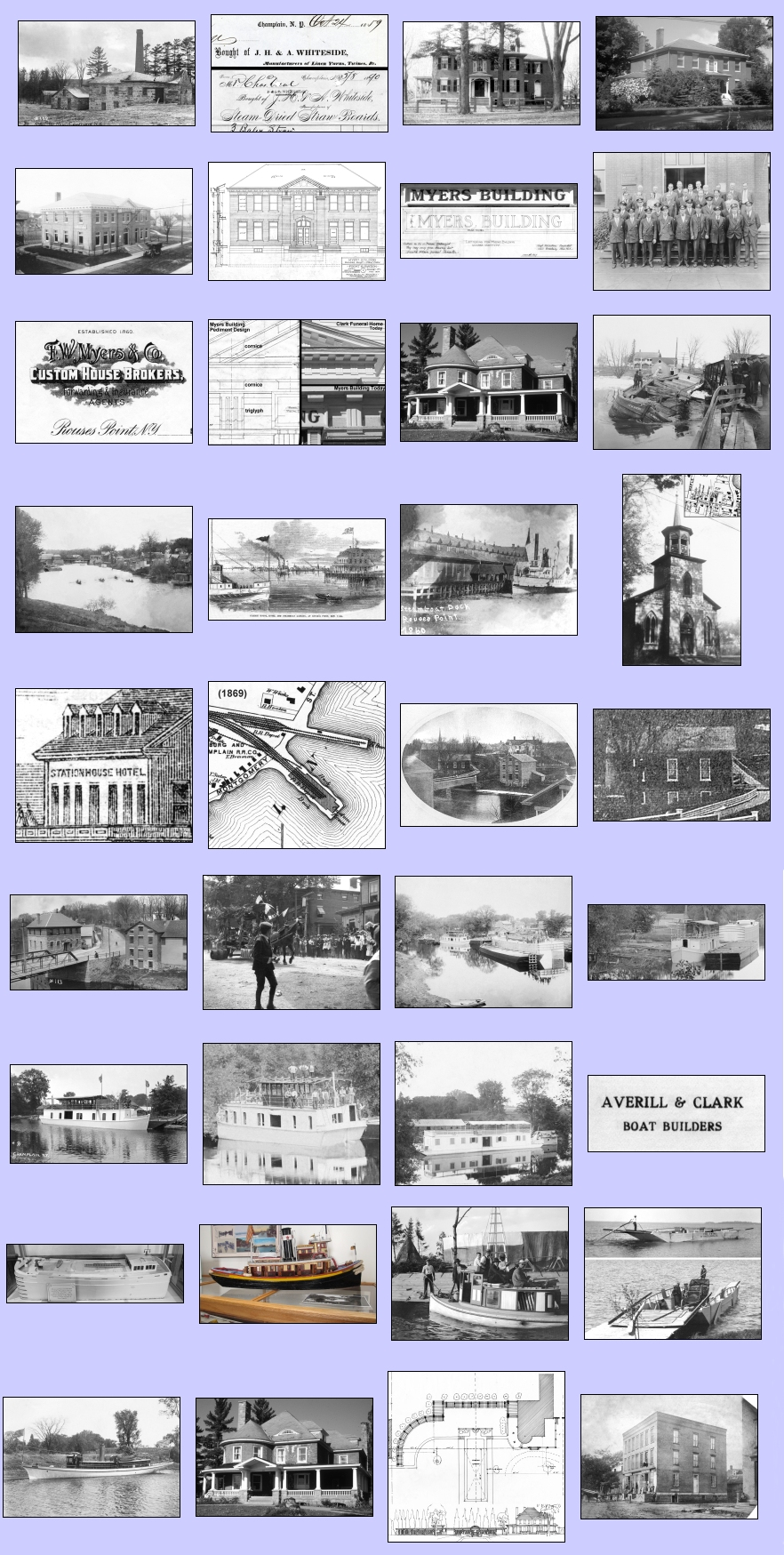 2012 champlain historic calendar images used